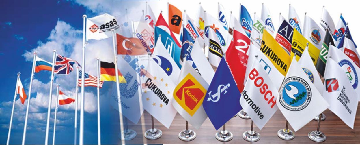 Firma ve Kurum Logolu Bayraklar